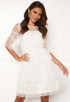 Happy Holly Smilla mesh dress White Bubbleroom.dk