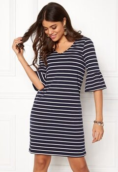 Happy Holly Sophia dress Navy / Striped Bubbleroom.dk