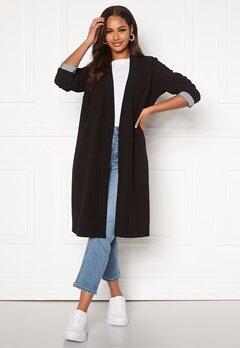 Happy Holly Stefanie tricot coat Black Bubbleroom.dk