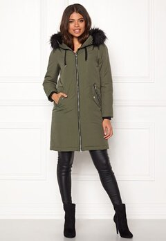 Happy Holly Stephanie Jacket Khaki green Bubbleroom.dk