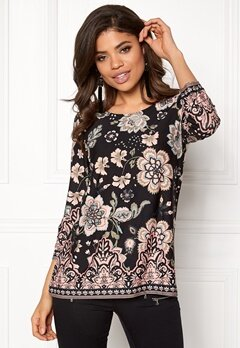 Happy Holly Taylor top Black / Patterned Bubbleroom.dk