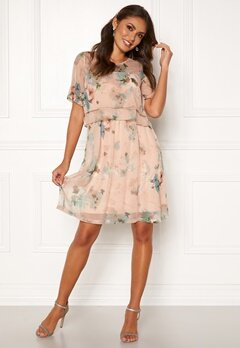 Happy Holly Teodora occasion dress Dusty pink / Patterned Bubbleroom.dk