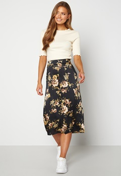 Happy Holly Teresa skirt Black / Patterned Bubbleroom.dk
