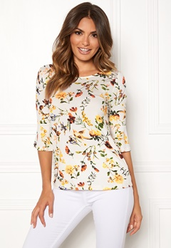 Happy Holly Tereza top Offwhite / Patterned Bubbleroom.dk
