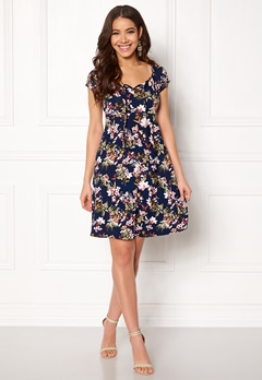 Happy Holly Tessan dress Blue / Patterned Bubbleroom.dk