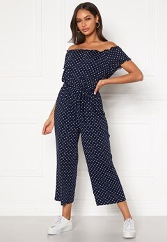 Happy Holly Tessan jumpsuit Dark blue / Patterned Bubbleroom.dk