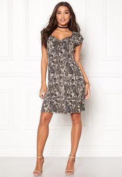 Happy Holly Tessan dress Black / Paisley Bubbleroom.dk