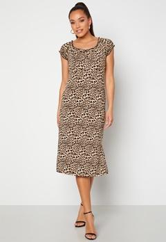 Happy Holly Tessan midi dress Leopard Bubbleroom.dk