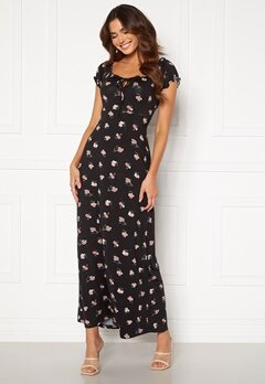 Happy Holly Tessie maxi dress Black / Patterned Bubbleroom.dk
