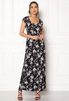 Happy Holly Tessie maxi dress Black / Offwhite Bubbleroom.dk
