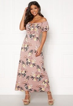 Happy Holly Tessie maxi dress Dusty pink / Patterned Bubbleroom.dk