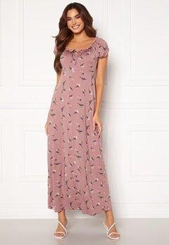 Happy Holly Tessie maxi dress Dusty pink / Patterned Bubbleroom.dk