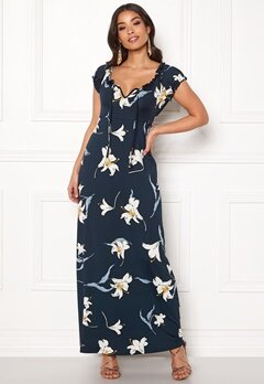 Happy Holly Tessie maxi dress Dark blue / Patterned Bubbleroom.dk