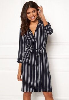 Happy Holly Thea shirt dress Striped Bubbleroom.dk