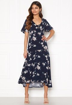 Happy Holly Therese dress Dark blue / Floral Bubbleroom.dk