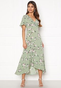 Happy Holly Therese dress Dusty green / Floral Bubbleroom.dk