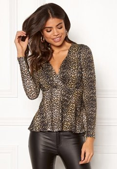 Happy Holly Therese top Leopard Bubbleroom.dk