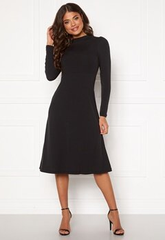 Happy Holly Tilda puffsleeve dress Black Bubbleroom.dk