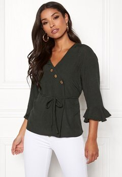 Happy Holly Tilly blouse Khaki green Bubbleroom.dk