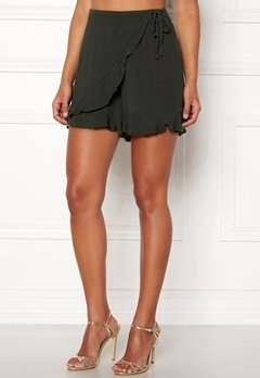 Happy Holly Tilly frill shorts Khaki green Bubbleroom.dk