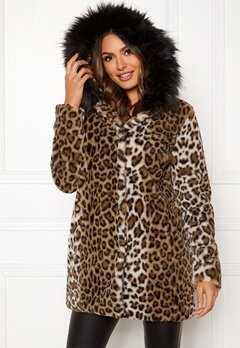 Happy Holly Trinny faux fur coat Leopard Bubbleroom.dk