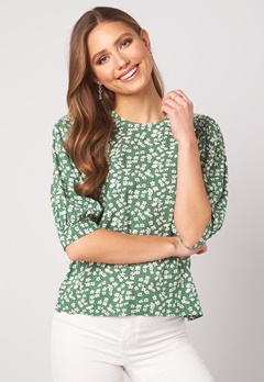 Happy Holly Tris blouse Green / Patterned Bubbleroom.dk