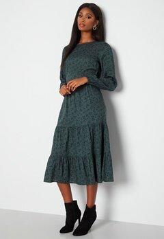 Happy Holly Tris ls dress Green / Patterned bubbleroom.dk
