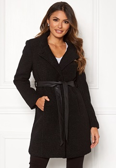 Happy Holly Tuva wool coat Black Bubbleroom.dk