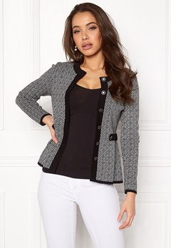 Happy Holly Tyra cardigan Black / Offwhite Bubbleroom.dk