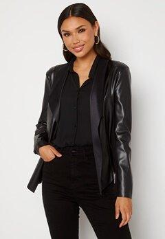 Happy Holly Vera PU jacket Black bubbleroom.dk