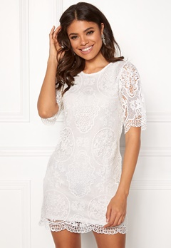 Happy Holly Vickan lace dress White Bubbleroom.dk