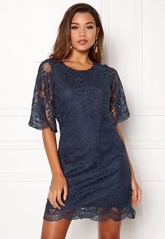 Happy Holly Vicky lace dress Dark blue Bubbleroom.dk
