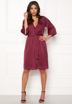 987132a6 Happy Holly Victoria occasion dress Wine-red Bubbleroom.dk