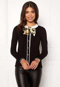 Happy Holly Vilma cardigan  Black Bubbleroom.dk
