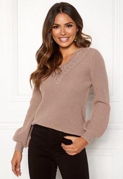 Happy Holly Wendy lace sweater Dusty pink Bubbleroom.dk