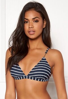 Happy Holly Zandra bikini bra Navy / Striped Bubbleroom.dk