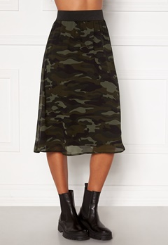 Happy Holly Zoey asymmetric skirt  Camouflage Bubbleroom.dk