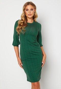 Happy Holly Zona dress Green / Floral Bubbleroom.dk