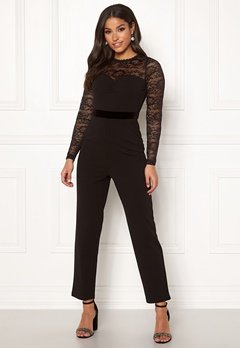 Happy Holly Anna lace tricot jumpsuit Black Bubbleroom.dk