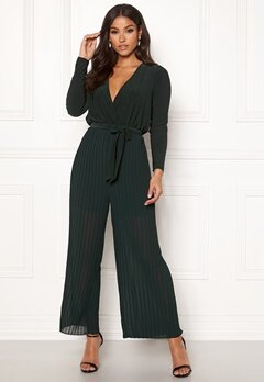 Happy Holly Bianca pleated jumpsuit Dark green Bubbleroom.dk