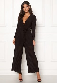 Happy Holly Bianca pleated jumpsuit Black Bubbleroom.dk