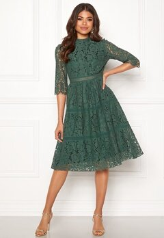 Happy Holly Madison lace dress Dusty green Bubbleroom.dk