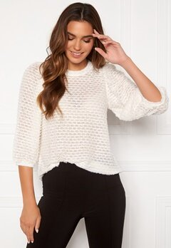 Happy Holly Chelsia furry top Offwhite Bubbleroom.dk