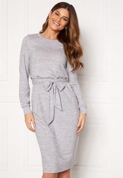 Happy Holly Beatrix midi dress Grey melange Bubbleroom.dk