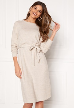 Happy Holly Beatrix midi dress Beige melange Bubbleroom.dk