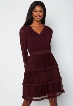 Happy Holly Alice Lace Dress Dark wine-red bubbleroom.dk