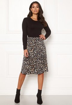 Happy Holly Susanna 2in1 dress Black / Leopard Bubbleroom.dk