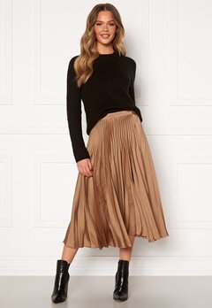 SELECTED FEMME Harmony Pleated Skirt Tigers Eye Bubbleroom.dk