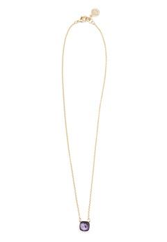 SNÖ of Sweden Hatt Pendant Necklace Gold/Purple Bubbleroom.dk