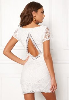 DRY LAKE Heart Dress White Lace Bubbleroom.dk
